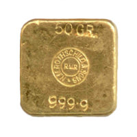 Unterseite 50 Gramm Royal Mint Refinery