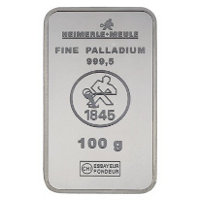Palladiumbarren  Palladiumbarren | Goldbarren-Wiki | Daten und Bilder