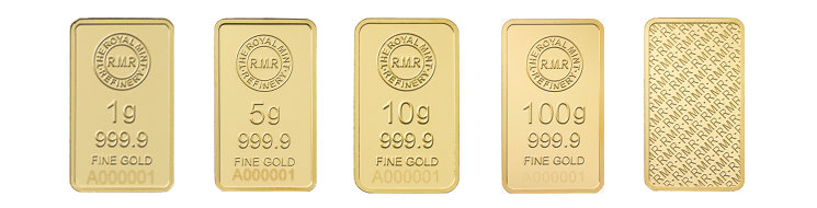 Goldbarren der Royal Mint